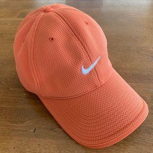 Orange Nike Adult Baseball Golf Cap. One size.